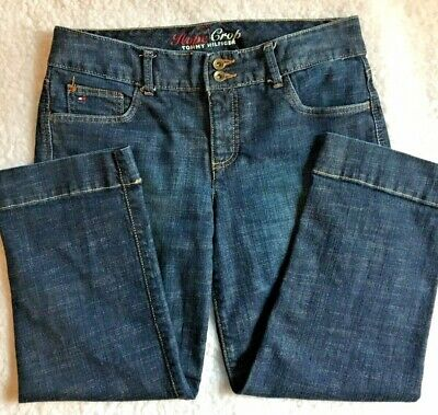 3cecf733bab Tommy Hilfiger Womens Hope Crop Jeans Size 6 Medium Rise Cropped Leg Blue  Denim