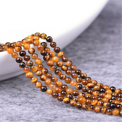 Crystal natural yellow tiger's eye stone loose beads 6mm 8mm Healing ELEMENTS