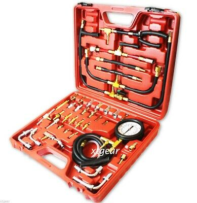 New 0-140 psi Complete Deluxe Fuel Injection Pressure Tester Gauge Kit system