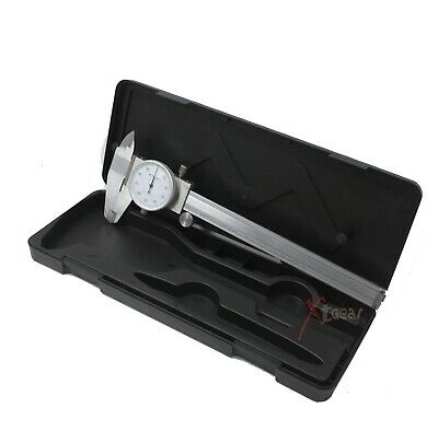 """0- 6"""" Stainless Shockproof Dial Caliper .001"""" Shock Proof W/Case New"""