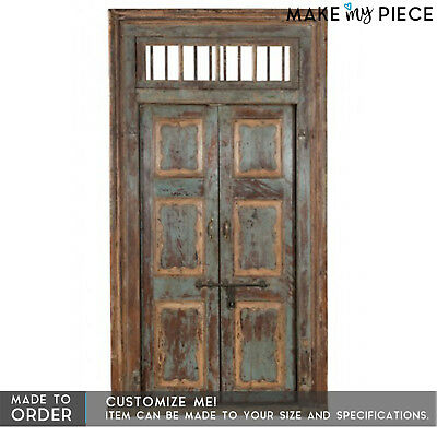 MADE TO ORDER Antique Carved Solid wood Rustic Old Door Exterior Vintage Door