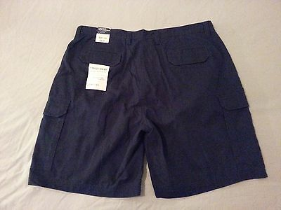Mens St. John's Bay Cargo Shorts 40 Navy Blue Cotton