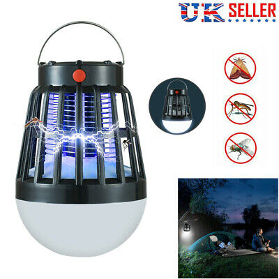Bug Zapper LED Mosquito Killer Camping Lamp Solar USB Charge Pest Repeller