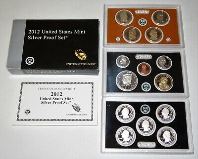 2012 US Mint Silver Proof Set w/ Box and COA - 14 Coin Set
