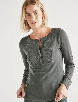 Brand Women's Henley22 99Picclick Thermal Lucky Embroidered ChQrsdt