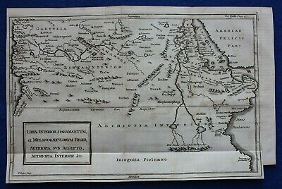 Original antique map NORTH EAST AFRICA, NILE, MOUNTAINS OF THE MOON, Basire 1748