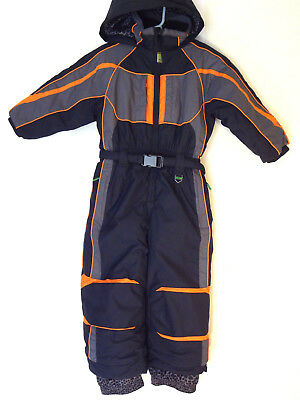 BOYS GIRLS 4 SNOW DRAGONS Black Insulated 1 pc Ski Snow Suit