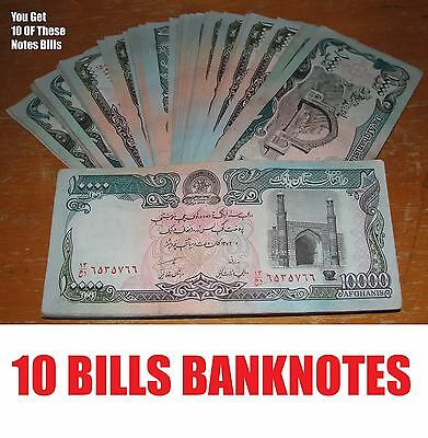 10 Pcs Afghanistan Taliban Banknote Paper Money Afghani Currency Note Bills Afg