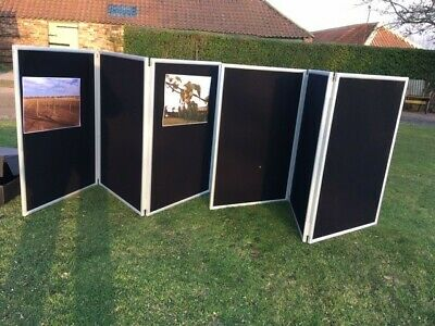 2 x Folding portable Display boards Exhibition /trade show /work notice boards