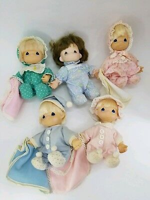 5 lot My First Precious Moments Doll Roseart 1992 Stuffed 90s Toy Collect Bulk