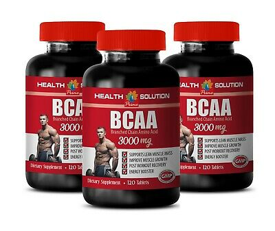 bcaa supplement - BCAA 3000mg 3 Bottles - muscle maker tablets 360 Tablets