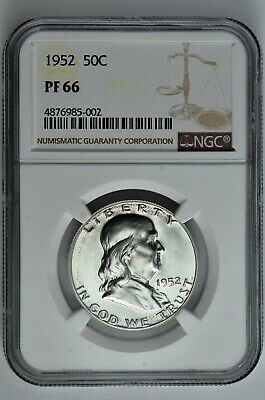 1952 50c Proof Silver Franklin Half Dollar NGC PF 66