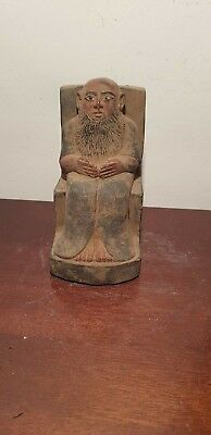 Rare Antique Ancient Egyptian Statue Priest long beard mediator God 1650-1560 BC