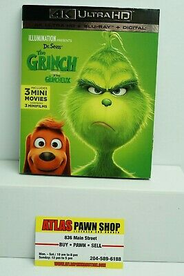 BRAND NEW The Grinch 2018 (4K Ultra HD + Blu Ray + Digital)