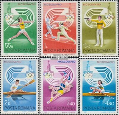 Romania 3733-3738 (complete issue) unmounted mint / never hinged 1980 olympic. S