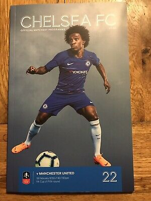 Chelsea v Manchester United football programme FA cup 18th February 2019