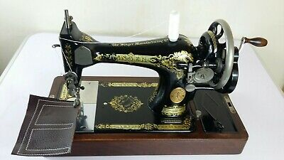 1920's Vintage Singer 28K Handcrank Sewing Machine, FULLY SERVICED, SEWS LEATHER