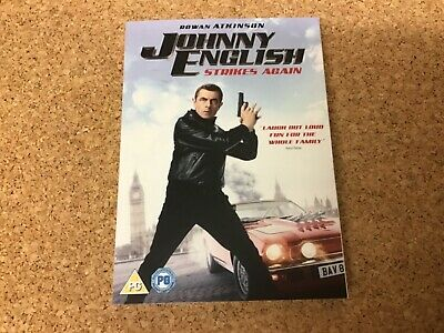Johnny English Strikes Again Dvd Genuine Uk Dvd + Digital Download Code
