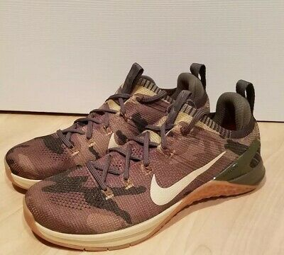 cheap for discount 8d0ee b7be3 Nike Metcon DSX Flyknit 2 Men Sz 8.5 Cross Training Shoes Camo Olive  924423-300