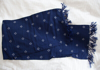 True Vintage Tootal Scarf Navy with White Dot Diamonds