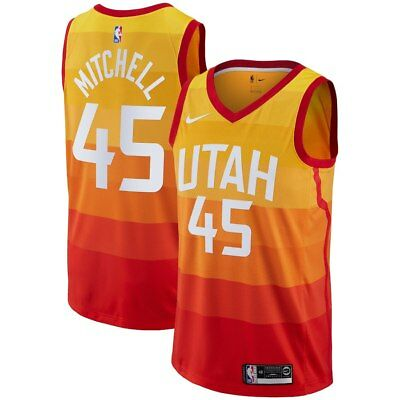 Nike 2018-2019 NBA Utah Jazz Donovan Mitchell  45 City Edition Swingman  Jersey 362adaee6