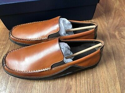 1d473c1a196 Cole Haan Men 10.5 M Tucker Venetian Slip On Loafers Tan Brown Leather  C03559