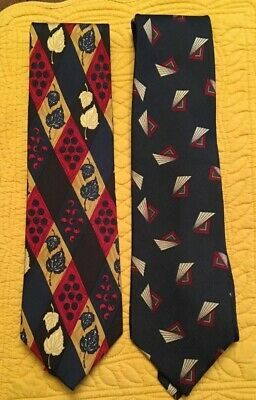 2, Jos. A. Bank Premier Collection Men's Neck Ties 100% Silk Made in the USA