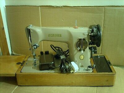 Vintage SINGER 201K Semi Industrial Electric Sewing Machine with Case free P&P