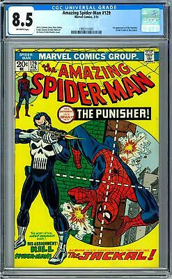 Amazing Spider-Man #129 CGC 8.5 (OW) 1st Appearance of the Punisher