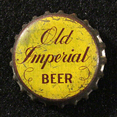 Old Imperial Cork Lined Beer Bottle Cap Crown Green Rahr's Bay Wisconsin Wisc Wi