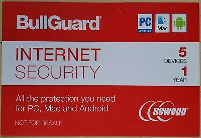 BullGuard Internet Security 2019 - 5 Device / 1 Year - PC, Mac, or Android