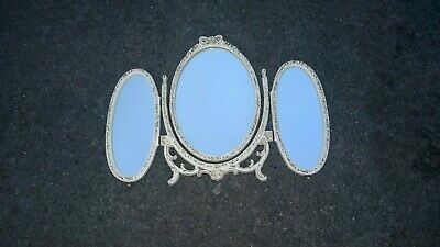 shabby chic french Louis style   /   triple dressing table mirror