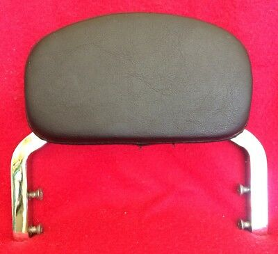 Chrome With Leather Pad Motorcycle Passenger Backrest - Was On A Harley Davidson