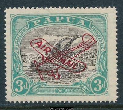 1930 Papua 3d Black & Blue-Green Airmail, SG 118, MUH