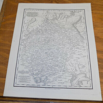 c1830 Antique Map ///// RUSSIA IN EUROPE, published by Samuel Walker