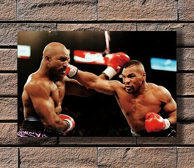 Art Poster 24x36 27x40 - Mike Tyson Evander Hollyfield Boxing T-553
