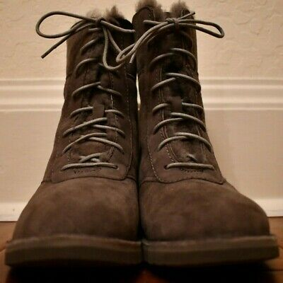 53d8e616d84 UGG AUSTRALIA WOMENS Daney Suede Round Toe Mid-Calf Cold, Charcoal ...