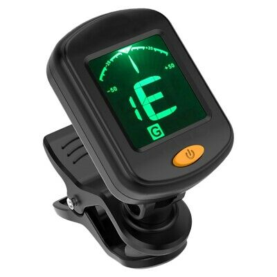 LCD Clip-On Digital Tuner for Acoustic Electric Guitar Bass Chromatic Inst JUZ