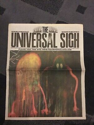"RADIOHEAD ""The Universal Sigh"" newspaper King of Limbs PROMO ONLY brand new 2011"