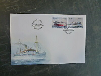 2014 Aland, Finland Ferries Set 2 Stamps Fdc First Day Cover