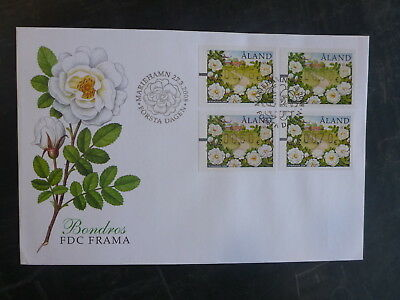 2008 Aland White Love Rose 4 Values Frama Set Fdc First Day Cover