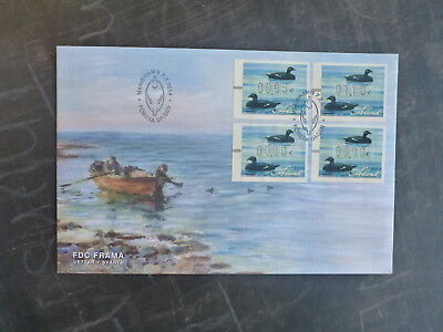 2014 Aland, Finland Decoy Duck Set 4 Rates Frama Fdc First Day Cover