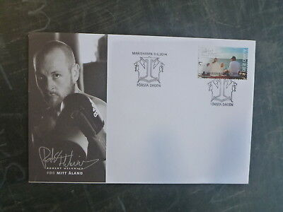 2014 Aland, Finland My Aland Family Stamp Fdc First Day Cover