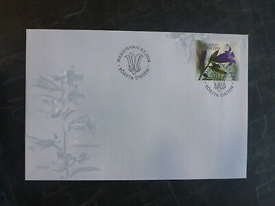 2014 Aland, Finland Bellflower Stamp Fdc First Day Cover