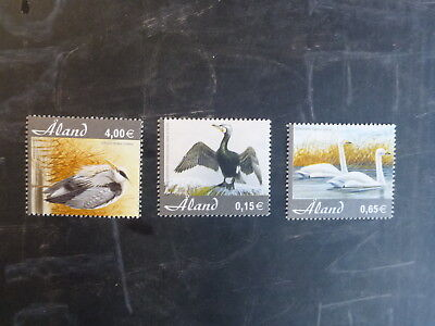 2005 Aland, Finland Immigrated Birds Set 3 Mint Stamps Mnh