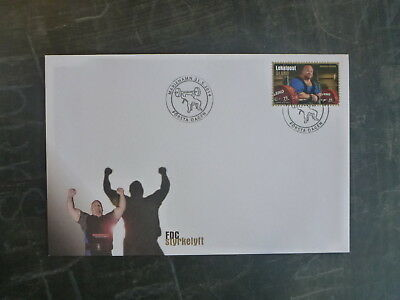 2014 Aland, Finland Power Lifting Stamp Fdc First Day Cover