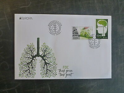 2016 Aland, Finland Think Green Set 2 Stamps Fdc First Day Cover