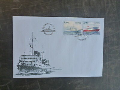 2009 Aland Ferries Set 2 Stamps Fdc First Day Cover