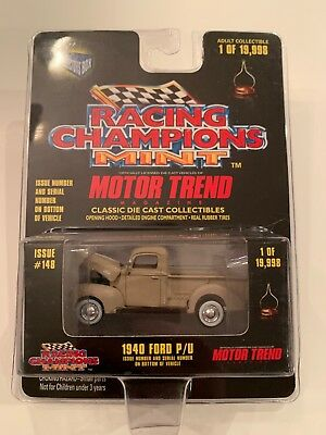 Racing Champions Mint 1940 Ford Pickup Motor Trend Die cast,MISP (B13)