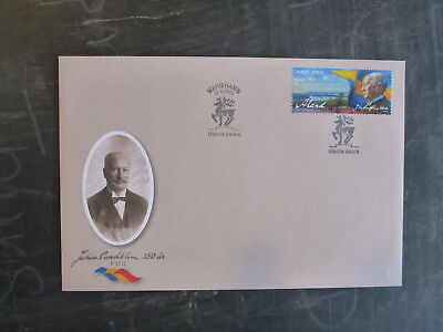2015 Aland, Finland Julius Sundblom Stamp Fdc First Day Cover